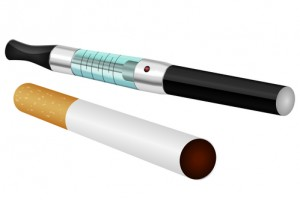 Electronic and normal cigarette