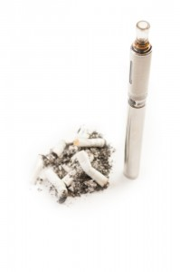 Electronic cigarette versus dirty smelly normal cigarette butts