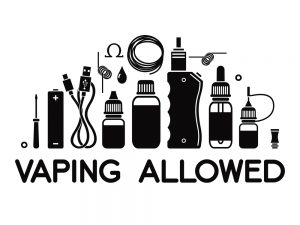 Vape icons set of vape and accessories